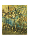 Four Dancers Giclee Print by Edgar Degas