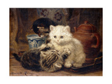 Afternoon Tea Print by Ronner-Knip Henriette
