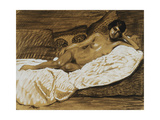 Recliningd Nude Giclee Print by Théophile Alexandre Steinlen