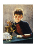 A Cup of Tea Premium Giclee Print by William Verplanck		 Birney