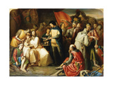 Scene in the Tent of Edward The Black Prince after the Battle of Poitiers Giclee Print by William James		 Grant