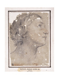 The Head of a Woman, in profile to the right Giclee Print by Francesco Giovanni		 Gessi