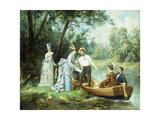 The Boating Party Giclee Print by Garcia Mencia Antonio