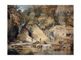 Aberdulais Mill, Glamorganshire, Wales Stampa giclée di J. M. W. Turner