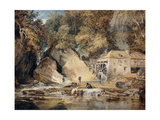 Aberdulais Mill, Glamorganshire, Wales Premium Giclee Print by J. M. W. Turner