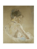 Young Girl With Naked Shoulders Posters by Berthe		 Morisot
