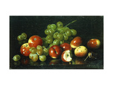 Still Life with Crabapples and Grapes Giclee Print by Joseph		 Decker