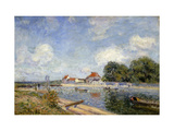 The Weir on the Loing at Saint-Mammes Giclee Print by Alfred		 Sisley