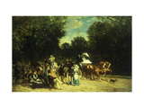 A Day in the Park Giclee Print by Auguste Molins