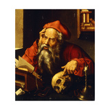 Saint Jerome Giclee Print by (attributed to) Joos Cleve