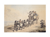 A Coaching Scene Giclee Print by Thomas		 Rowlandson