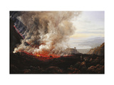 The Eruption of Vesuvius Giclee Print by Johan Christian		 Dahl