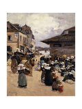 Corner Market in Concarneau Giclee Print by Fernand		 Legout-Gerard