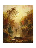 Autumn on the Wawayanda Print by Jasper Francis		 Cropsey
