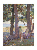 Two Nudes under Pine-Trees Giclee Print by Theo Rysselberghe