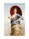 A Lady with a Parasol Giclee Print by Gustave Jean		 Jacquet