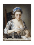A Maid Ironing Giclee Print by Henry Robert Morland