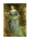 Study for 'Ophelia' Giclee Print by John William Waterhouse