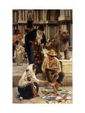 The Fan Seller Giclee Print by Franz Leo Ruben