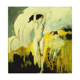 Nude in the Fields Giclee Print by Alfred Henry		 Maurer