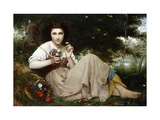 A Moment's Rest Giclee Print by Francois-Alfred		 Delobbe