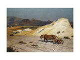 Lioness and Cubs Prints by Jean Leon		 Gerome