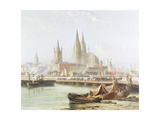 Cologne Cathedral on the Rhine Giclee Print by Vincent H.		 Gormer
