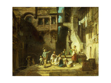 Laundry Women at the Well Print by Carl		 Spitzweg