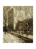 The Flatiron Building, New York Poster par Ernest Lawson