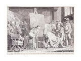 Emperor Charles V picking up Titian's Paintbrush Giclee Print by Pietro Antonio		 Novelli