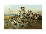 In the Wake of the Hunters Giclee Print by Charles Marion		 Russell