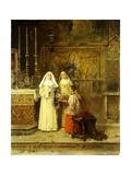 Celebrating Santa Maria della Rosa Giclee Print by Benlliure y Gil Jose