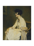 Woman Sitting Giclee Print by Charles Joseph		 Watelet