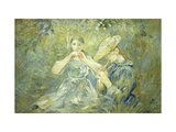 Le Flageolet Prints by Berthe		 Morisot