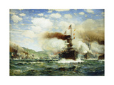 Naval Battle Giclee Print by James Gale		 Tyler