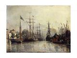 Rotterdam Harbour Giclee Print by Johan Barthold Jongkind
