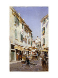 A Street Scene Giclee Print by Federico Campo
