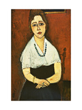 Girl with Necklace (Elena Picard) Giclee Print by Amedeo Modigliani