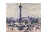 Paris, Place de la Bastille Prints by Gustave		 Loiseau