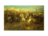Arab Horsemen on the March Premium Giclee Print by Adolf		 Schreyer