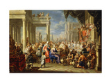 The Marriage at Cana Premium Giclee Print by Johann Georg		 Platzer