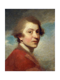 Portrait of the Artist, Head and Shoulders, in a Red Gown of a Doctor of Laws and White Stock Prints by Sir Joshua Reynolds