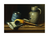 Still Life with Pipe and Tobacco Art by William Michael Harnett