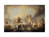 The Battle of Trafalgar Premium Giclee Print by (after) William Clarkson Stanfield