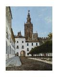 A Sunlit Square, Seville Premium Giclee Print by Enrique Roldan