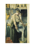 The Laundress Poster by Maximilien		 Luce