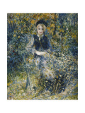 Young Girl on a Bench Giclee Print by Pierre-Auguste Renoir