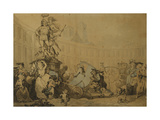 Place Victoire a Paris Giclee Print by Thomas		 Rowlandson