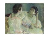 The Conversation Print by Mary Cassatt