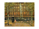 The Pond at the Palais Royal Prints by Henri		 Le Sidaner